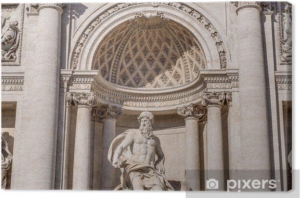 Leinwandbild Trevi-Brunnen, die barocke Brunnen in Rom, Italien. - Europäische Städte