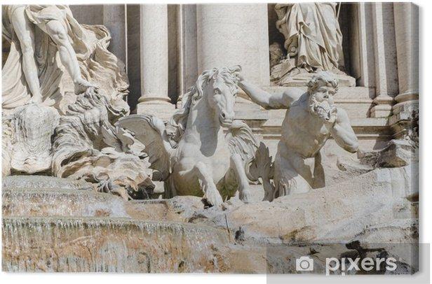 Leinwandbild Trevi-Brunnen. Rom, Italien. - Europäische Städte