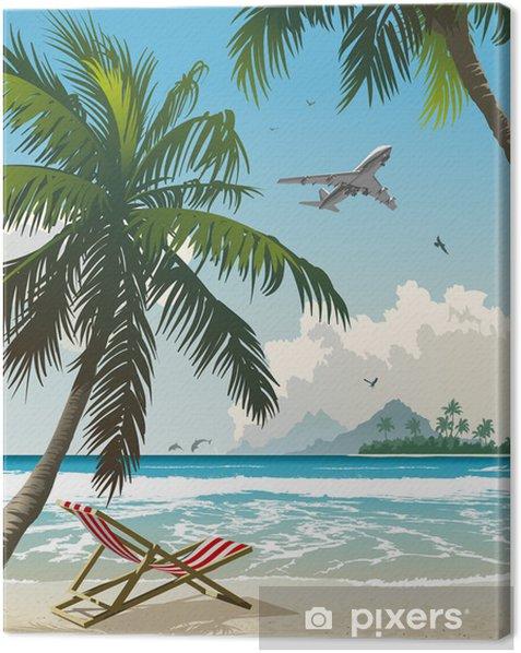 Leinwandbild Tropical beach - Themen