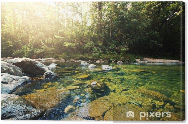 Leinwandbild Tropical Fluss - Wasser