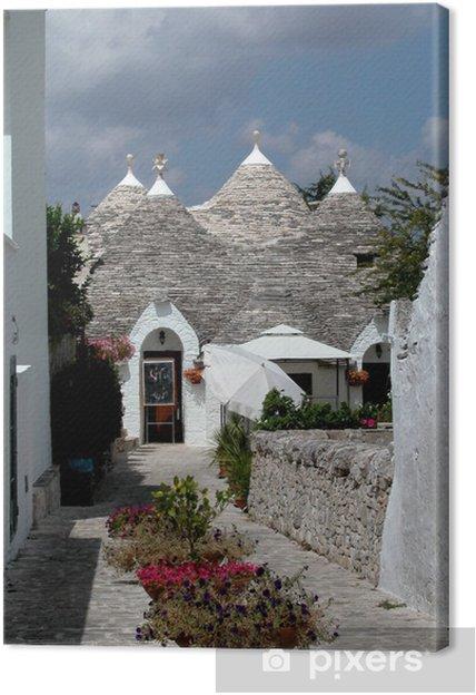 Leinwandbild Trulli Häuser in Alberobello, Italien - Europa