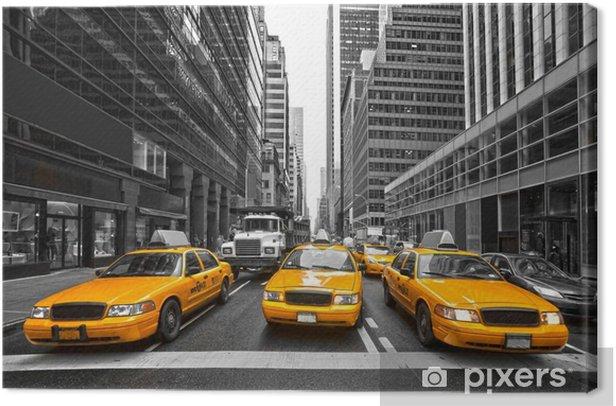 Leinwandbild TYellow Taxis in New York City, USA. -