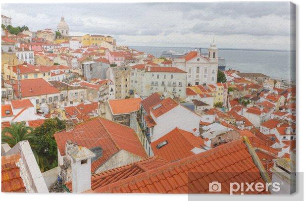 Leinwandbild Über die roten Dächer von Lissabon, Portugal - Europäische Städte