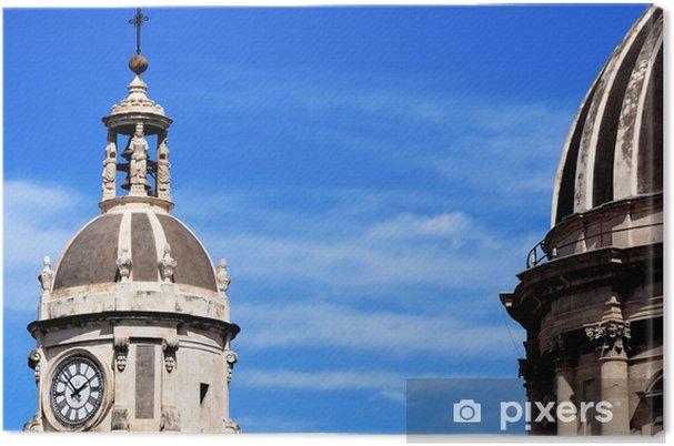 Leinwandbild Überqueren, in der Kathedrale von Catania - Europa