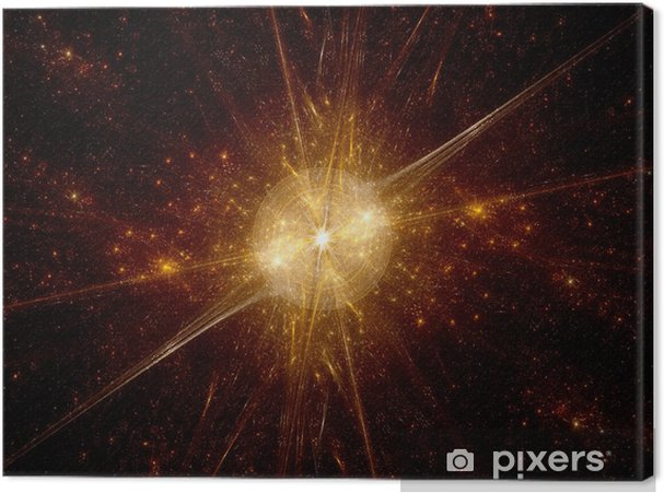 Leinwandbild Urknall im Weltraum - Weltall