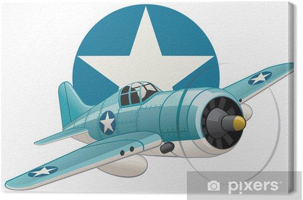 Leinwandbild US WW2 Flugzeug auf Luftwaffe Insignien Hintergrund - Luftverkehr