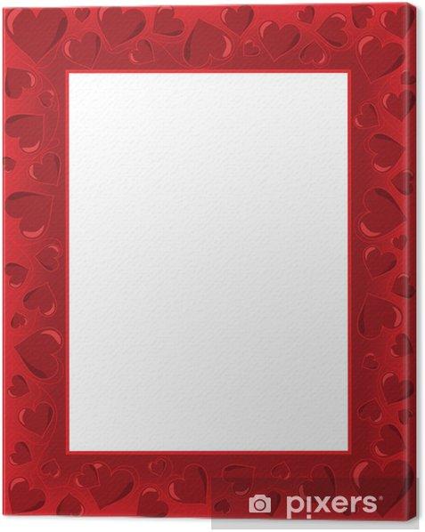 Leinwandbild Valentines card - Internationale Feste