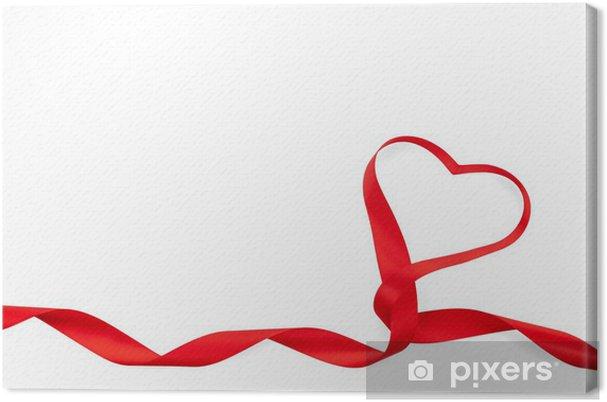 Leinwandbild Valentinstag Herz Rotes Band Geformt Pixers Wir