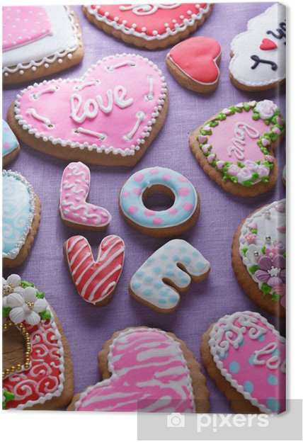 Leinwandbild Valentinstag Kuchen Stock Image Pixers Wir Leben
