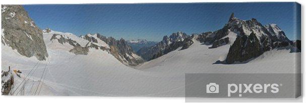 Leinwandbild Vallée Blanche et Aiguille du Midi - Europa