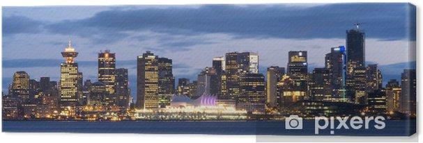 Leinwandbild Vancouver, Kanada von der North Shore gesehen. - Stadt