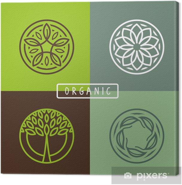 Leinwandbild Vector abstract-Emblem - Ökologie - Zeichen und Symbole