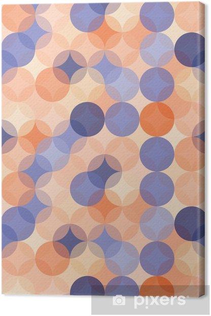 Leinwandbild Vector moderne nahtlose bunte Geometrie Muster Kreise, Farbe blau, orange, abstrakten geometrischen Hintergrund, Tapetendruck, retro Textur, hipster Mode-Design, __ - Grafische Elemente