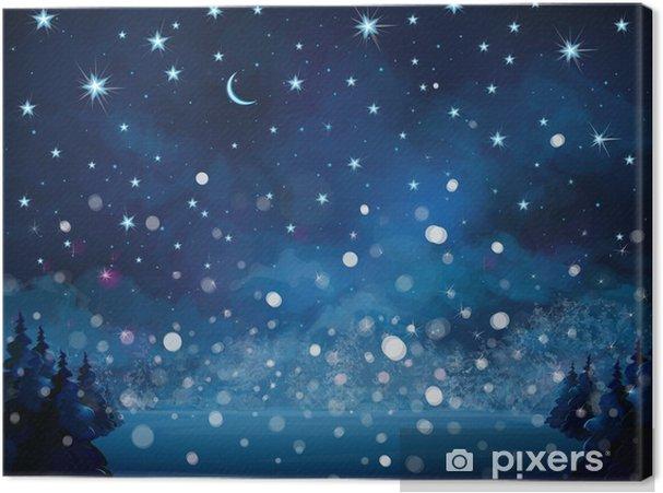 Leinwandbild Vector Schneefall Hintergrund. - Jahreszeiten