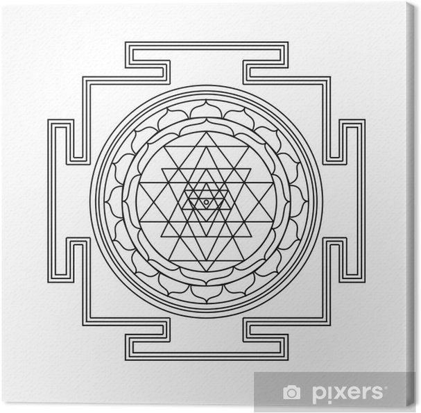 Leinwandbild Vector Shri Yantra - Zeichen und Symbole