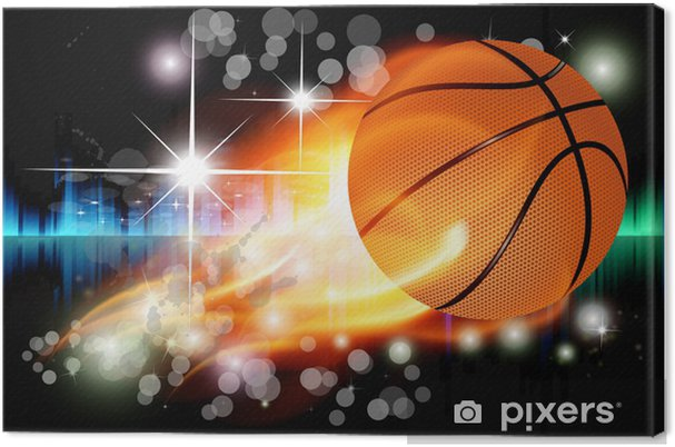 Leinwandbild Vektor abstrakten Hintergrund mit Basketball- - Kunst und Gestaltung