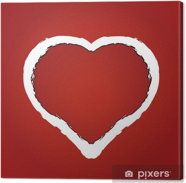 Leinwandbild Vektor Der Ein Herz Aus Roten Zerfetzten Papier