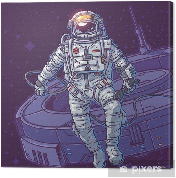 Leinwandbild Vektor-Illustration Kosmonaut, - Grafische Elemente