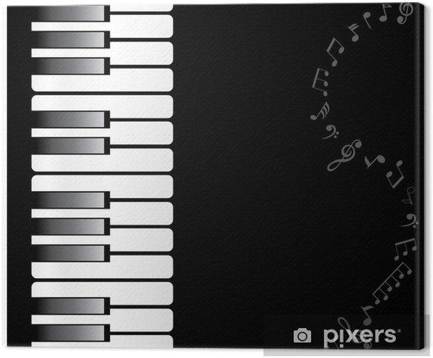 Leinwandbild Vektor Klaviertastatur - Entertainment
