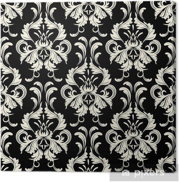 Leinwandbild Vektor nahtlose Hintergrund. Damast-Muster. Blumentapete - Stile