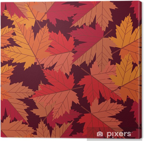 Leinwandbild Vektor nahtlose Muster Ahornblatt - Hintergründe