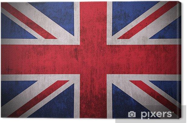 Leinwandbild Verwitterten Flagge Großbritannien, Stoff texturierten - Themen