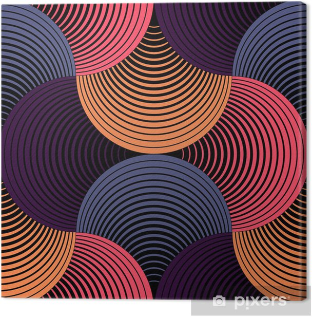 Leinwandbild Verziert Geometrische Petals Grid, abstrakte Vektornahtloses Muster - Themen