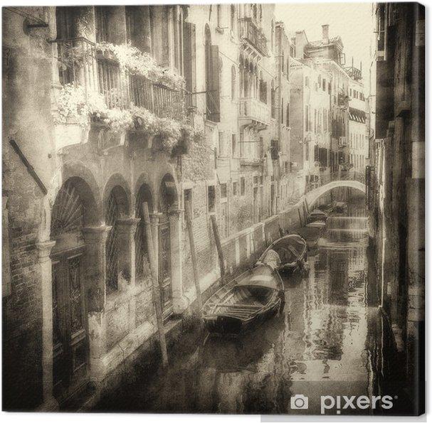 Leinwandbild Vintage Bild von venezianischen Kanäle - Themen