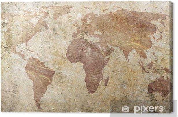 Leinwandbild Vintage Karte der Welt -