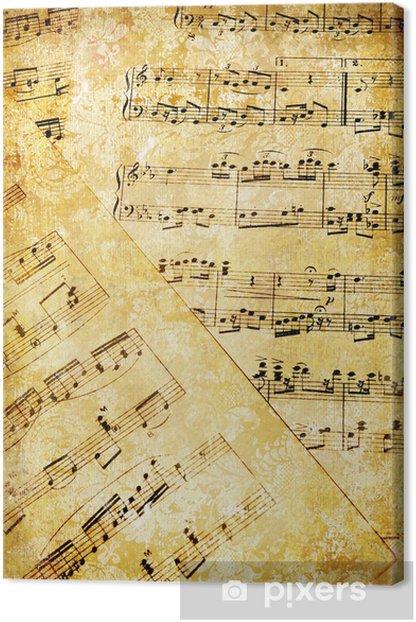 Leinwandbild Vintage musical Seiten - Stile
