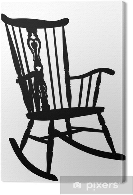 Vintage Schaukelstuhl leinwandbild vintage-schaukelstuhl stencil - right side gekippt