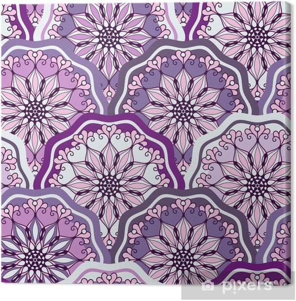 Leinwandbild Vintage seamless pattern - Internationale Feste