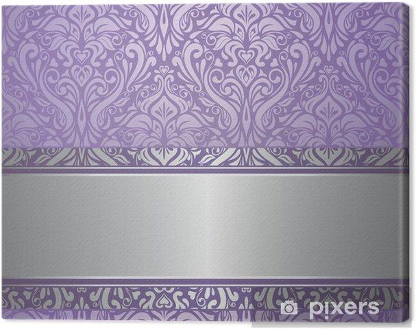 Leinwandbild Violett Und Silber Luxus Vintage Tapete Pixers Wir
