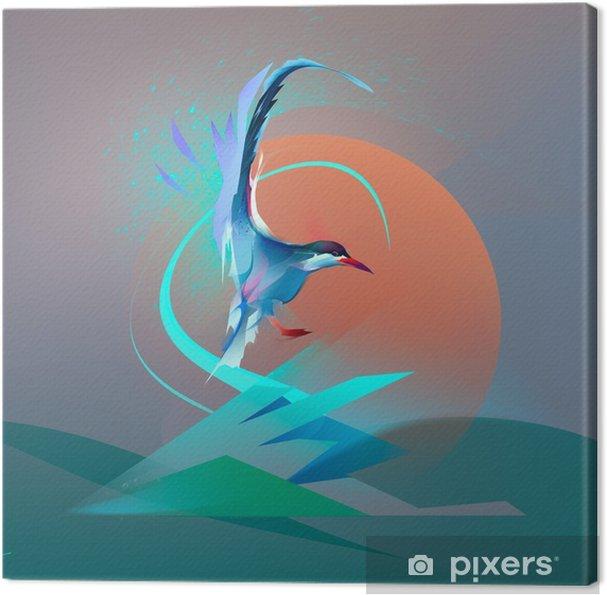 Leinwandbild Vogel Möwe tern - Tiere