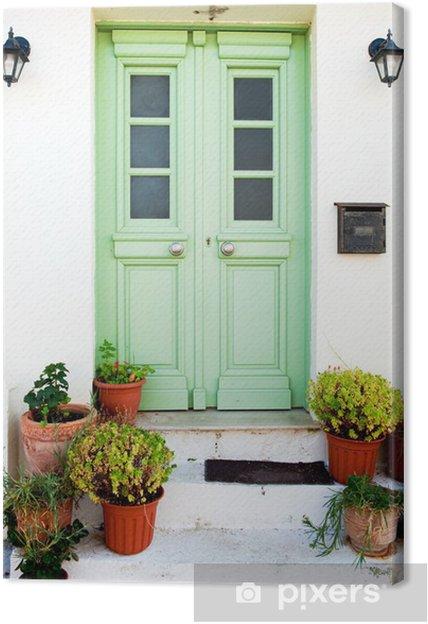Leinwandbild Von griechisch - Private Gebäude