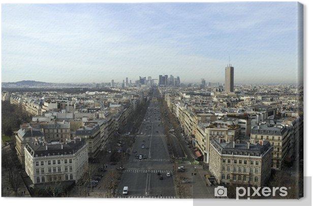 Leinwandbild Vue de La Défense depuis Paris - Europäische Städte