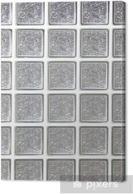 Leinwandbild Wand aus Glasbausteinen Hintergrund • Pixers® - Wir ...