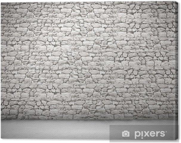 Leinwandbild Wand der Steine - Sales
