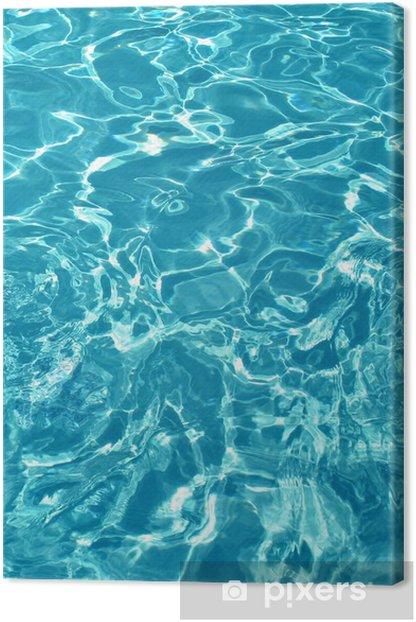 Leinwandbild Wasser Textur - Wasser