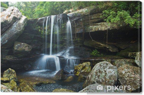 Leinwandbild Wasserfall im tiefen Wald von Thailand - Wasser