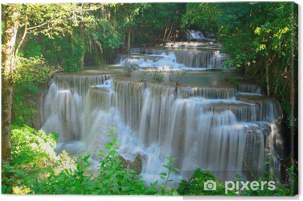 Leinwandbild Wasserfall im tropischen Wald tief in Huay Maekhamin - Themen