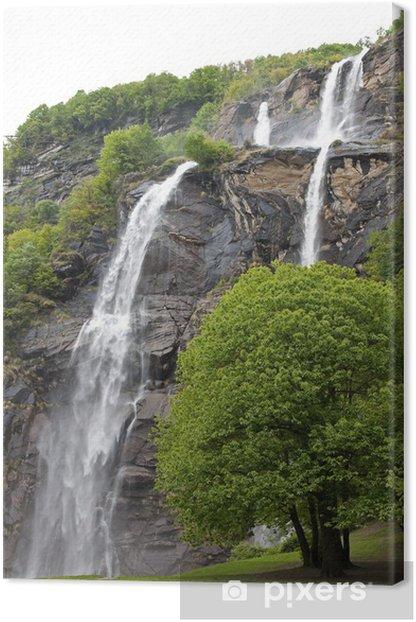 Leinwandbild Wasserfälle, Tal Chiavenna - Themen
