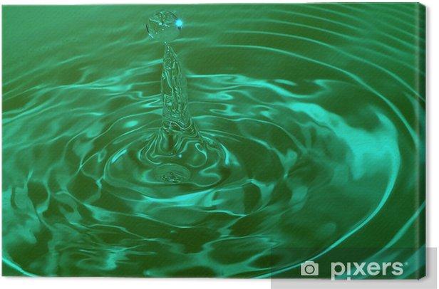 Leinwandbild Wassertropfen Auswirkungen - Naturwissenschaften