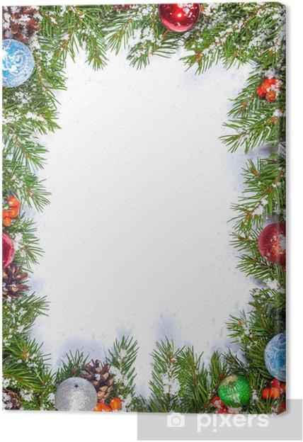 Hintergrund Weihnachten.Leinwandbild Weihnachten Hintergrund Eve Rahmen