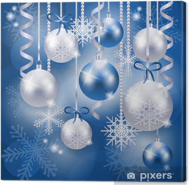 Weihnachten Hintergrund.Leinwandbild Weihnachten Hintergrund In Blau