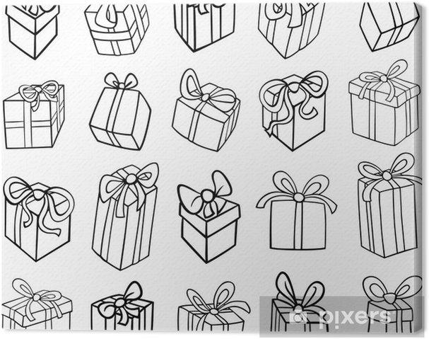 Ausmalbilder Weihnachten Geschenke.Leinwandbild Weihnachten Oder Geburtstag Geschenke Ausmalbilder