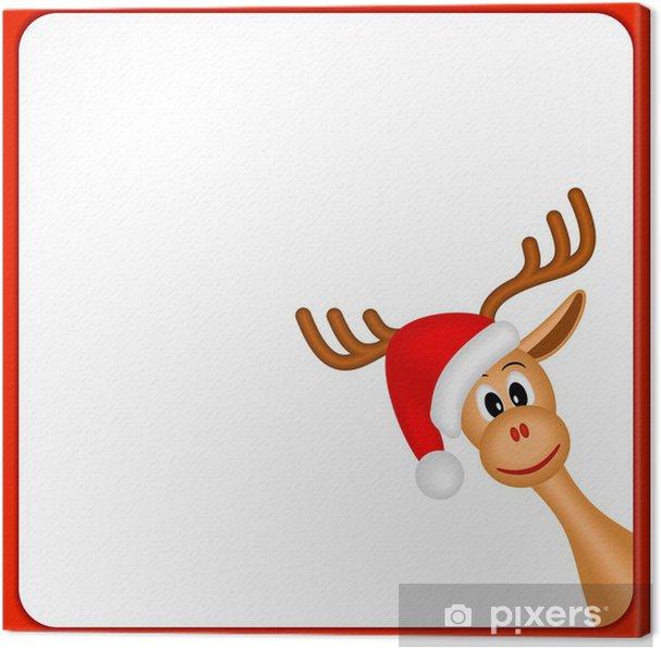 Leinwandbild weihnachten rentiere in leeren rahmen mit rotem rand pixers wir leben um zu - Pferde bordure kinderzimmer ...