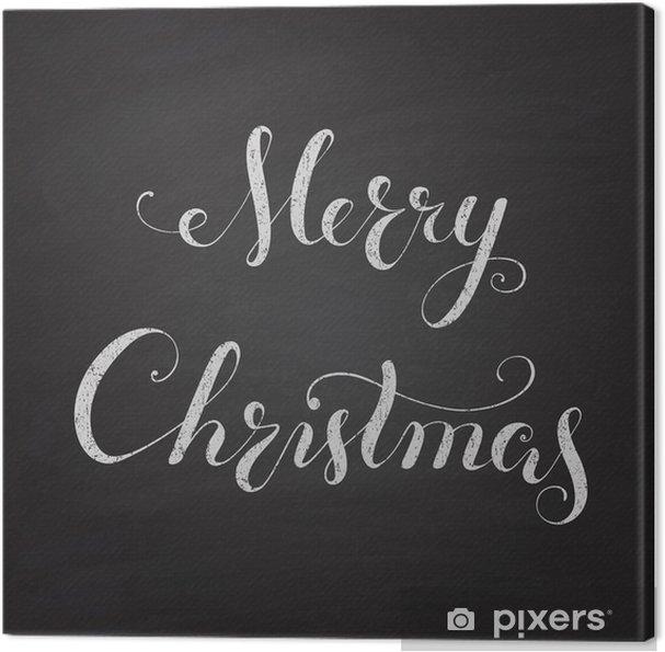 Leinwandbild Weihnachts Tafel mit Kalligraphie-Schriftzug. - Urlaub