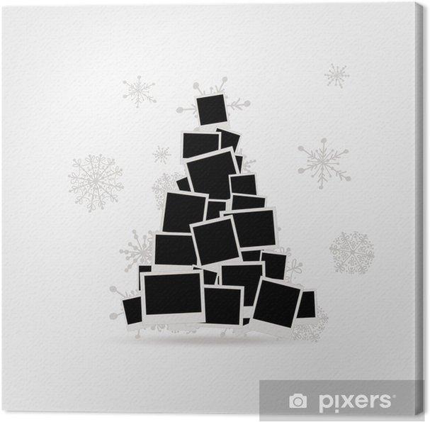 Leinwandbild Weihnachtsbaum Design Aus Bilderrahmen