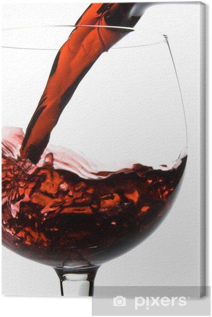 Leinwandbild Wein aus Gießen in Glas Dekanter - Alkohol